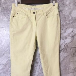 BODEN 6P Women's Size 6 Petite Yellow Skinny Ankle